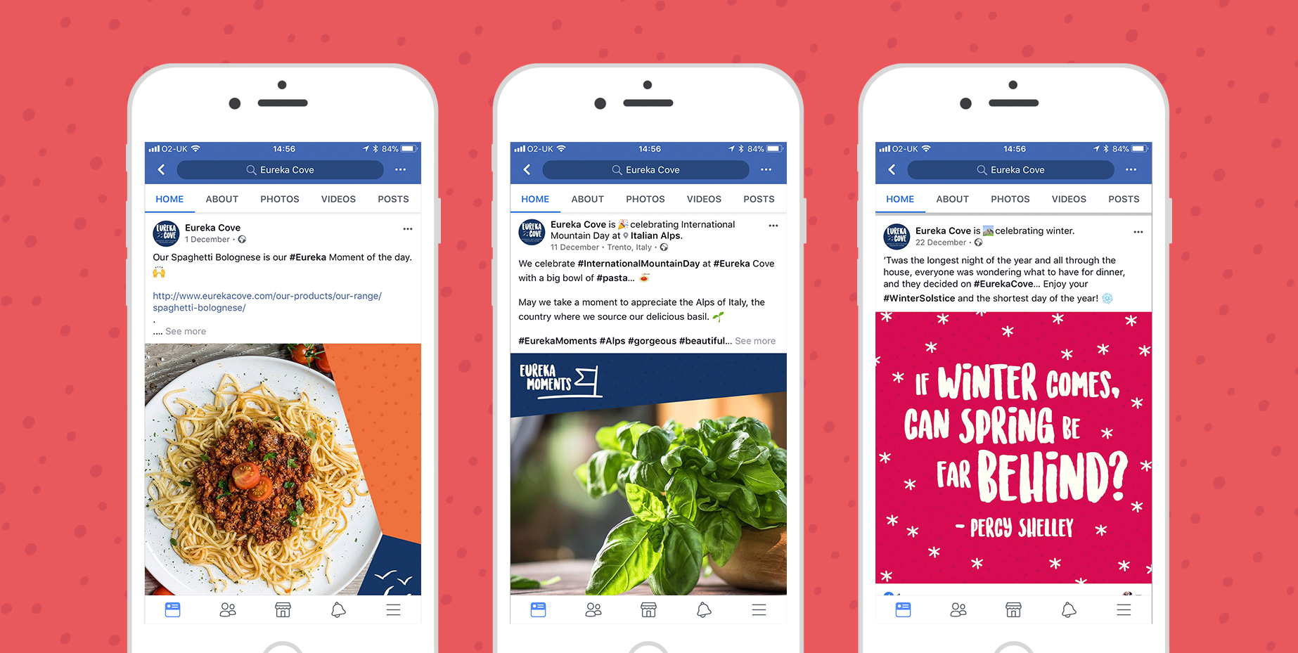 Social media design and management for food brands