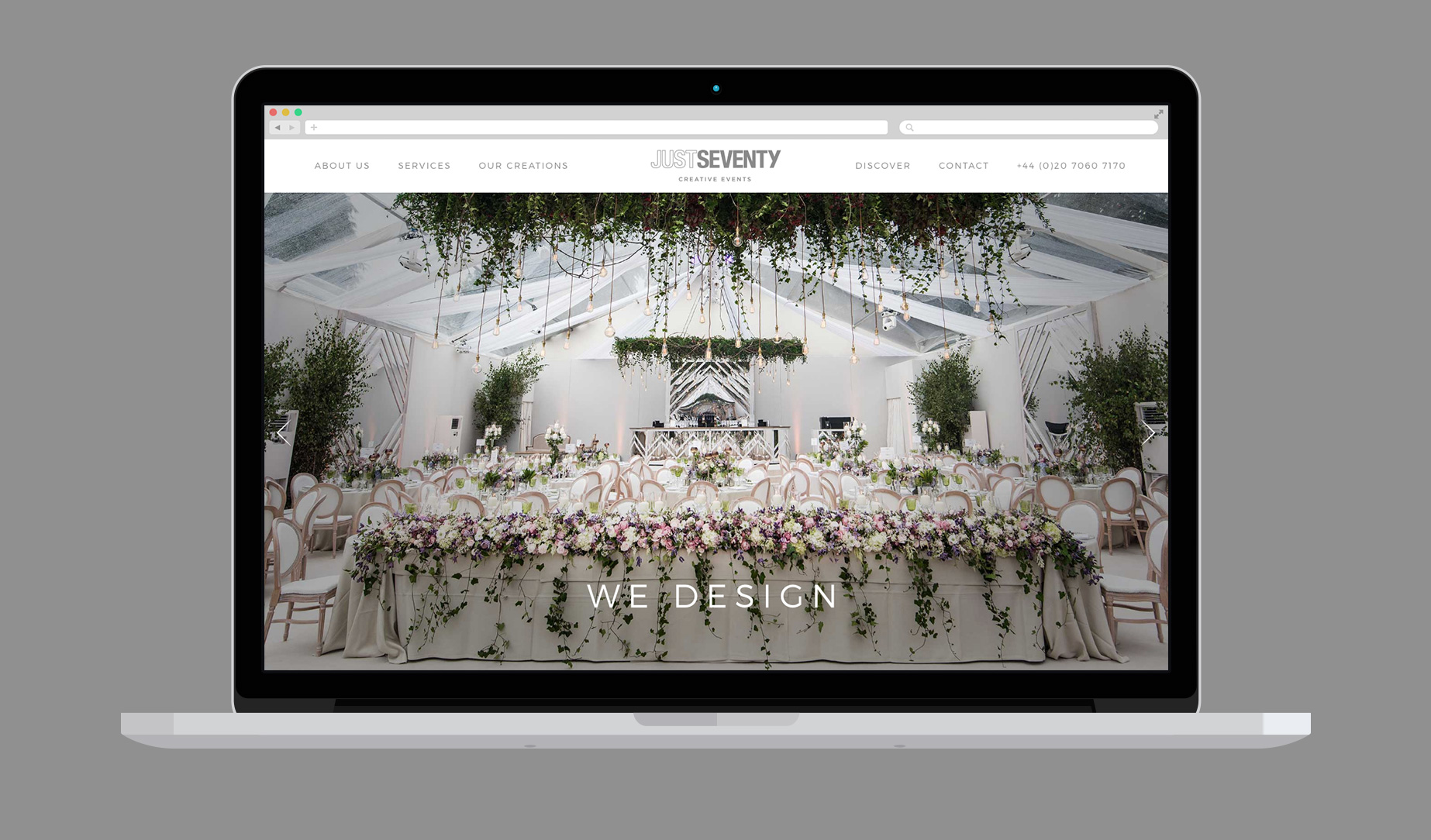Website design and build for events business