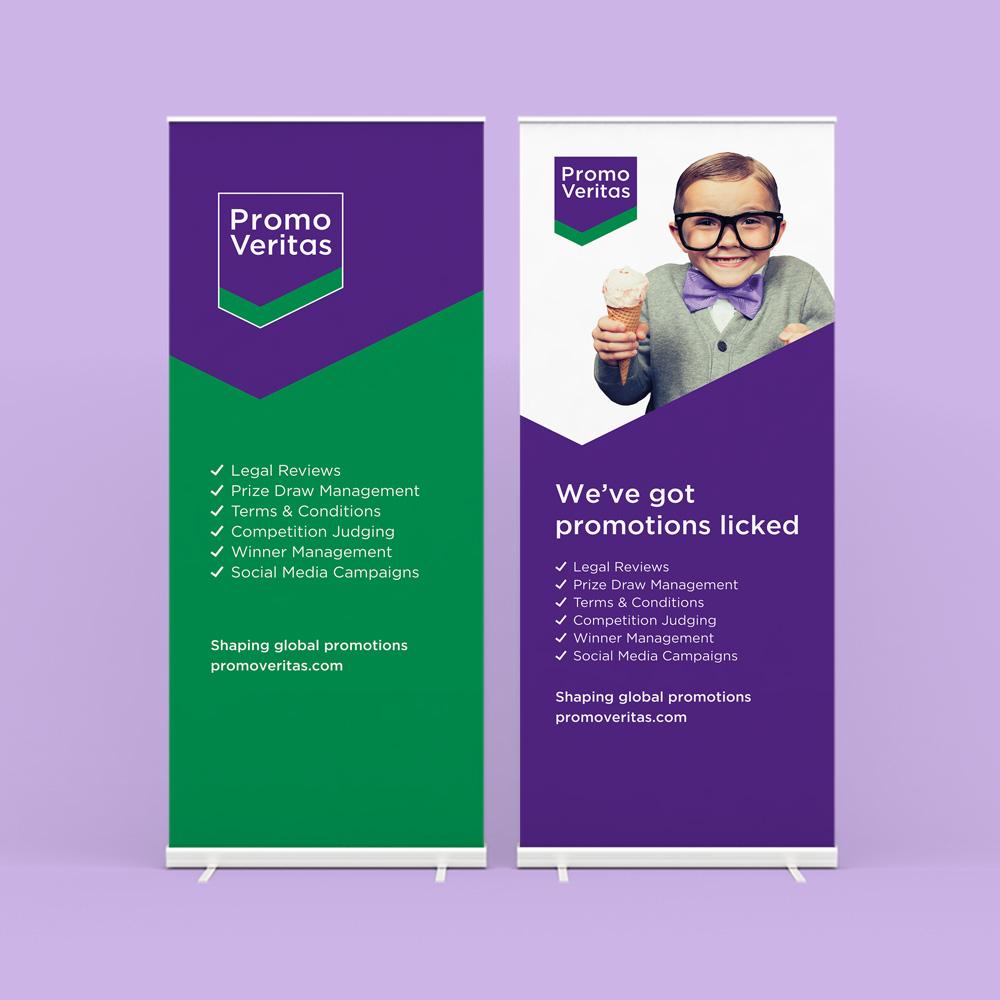 PromoVeritas roller banner design