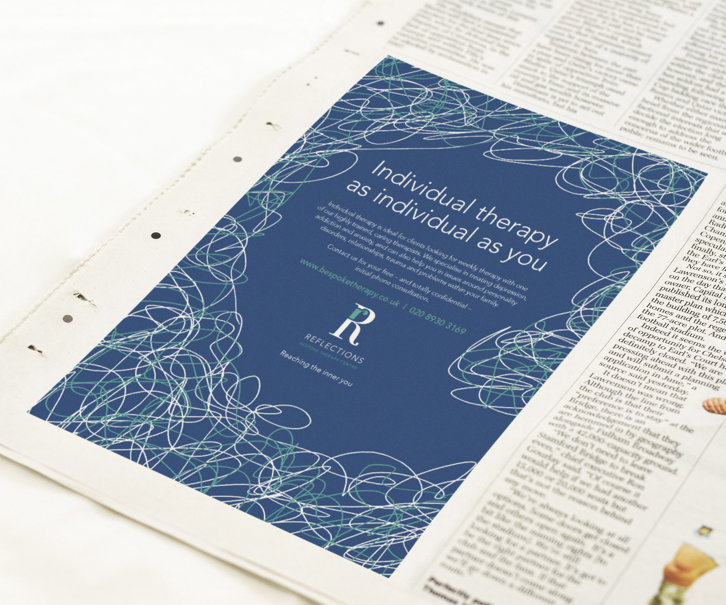 Reflections press advertising and design